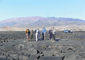 Photo of Hawaii Space Tours stop on lava fields